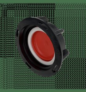 IBC kap zwart/rood S60x6 bi.dr. met uitneembare sluiting